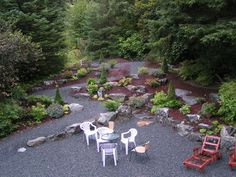 Landscaping with rock