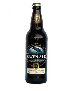 Cerveja Raven Ale, estilo Standard Bitter, produzida por Orkney Brewery, Escócia. 3.8% ABV de álcool.
