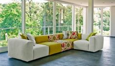 Colorful modular sofa by Sophisticated Living - Adorable Home
