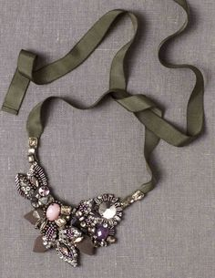 Party Necklace, nice under peter pan collar.