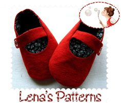 Sewing Pattern for Baby Shoes - Ballerina Booties DIY - PDF-0 to 24 months