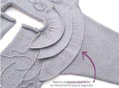 Ruffles Baby Sweater [ Knitting Pattern & Tutorial ] FREE Source by dsgsdr Baby Knitting Patterns, Baby Sweater Knitting Pattern, Kids Patterns, Knitting For Kids, Knitting For Beginners, Knitting Designs, Dress Patterns, Hand Knitting, Crochet Baby