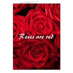 Roses are Red Valentine's Day Card - valentines day gifts gift idea diy customize special couple love