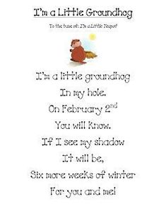 G is for groundhog. sing this on Groundhog day! easy enough for the kids to learn quickly. Preschool Groundhog, Groundhog Day Activities, Holiday Activities, February Holidays, School Holidays, January, Preschool Music, Preschool Activities, Music Activities