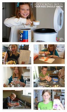 10 Cooking Skills Your Kids Should Know - Do your kids know how to do these 10 things in the kitchen? http://www.superhealthykids.com/10-cooking-skills-your-kids-should-know/