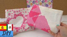 Como hacer un bolso con tela sin costuras - muy fácil - DIY bolsa Duck Tape, Facial Tissue, Diy, Youtube, Tela, Make A Purse, How To Make Bags, Dressmaking, Manualidades