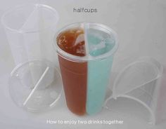 halfcups Plastic half Disposable Cups Coffee Tea Drink Cup with Flat Lids 100pcs #halfcups