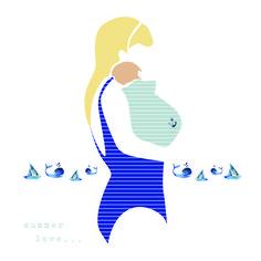 Illustration / graphisme / dessin / femme & enfant / www.johanna.gaudeau.fr