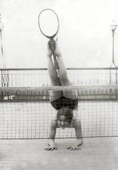 Meg demonstrates her amazing athletic ability.
