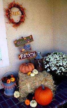 Fall, Harvest outdoor decor