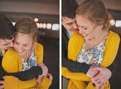 Cute hugs. Portrait. Couple.