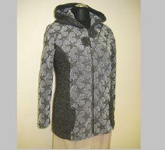 Kabátek+jarní+Kabátek+je+ušitý+z+úpletu.+Má+kapuci+a+ve+předu+je+zapínání+na+zip.+Skladem+je+velikost+42-44,+ostatní+velikosti+ušijeme+na+přání+do+10+dnů. Fur Coat, Jackets, Fashion, Down Jackets, Moda, Fashion Styles, Fashion Illustrations, Fur Coats, Fur Collar Coat