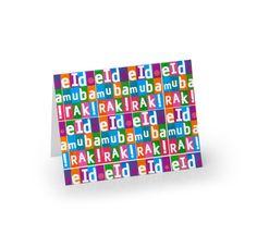 Party Souq - Fun Squares Eid Cards|10 pcs, $ 26.25