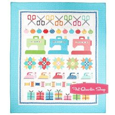 Sew By Row Quilt Kit Lori Holt for Imagine with Riley Blake Designs | Fat Quarter Shop