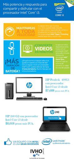 ¡Mas potencia con un Procesador Core i3 en un equipo HP a un excelente precio y de entrega inmediata!