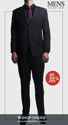 Para no fallar en esa noche especial opta por un #traje en tonos oscuros como el negro. #Graduaciones #Estilo #MensFashion. Cómpralo Ya!: www.mensfashion.com.mx