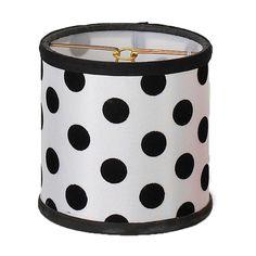 "4"" Black and White Polka Dot Chandelier Shade"