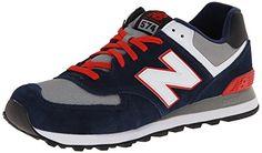 New Balance ML574, Herren Sneakers, Mehrfarbig (Blue/Grey/White/Red), 40 EU (6.5 Herren UK) - http://on-line-kaufen.de/new-balance/40-eu-new-balance-ml574-herren-sneakers
