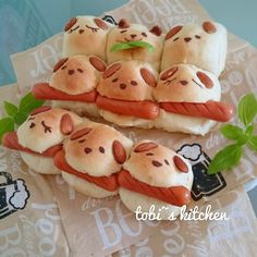 Pull-apart bread Japanese Bread, Japanese Sweets, Cute Food, Good Food, Yummy Food, Bento Recipes, Cooking Recipes, Kawaii Cooking, Cute Baking