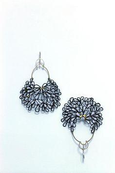 Leia Zumbro - Lacy Earrings (steel, brass, silver)