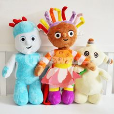 Soft in the Night Garden Stuffed Plush Doll Toy Set 2011 Plush Dolls, Doll Toys, Garage Kits, Night Garden, Wooden Toys, Action Figures, Stuffed Toys, Wood Toys, Stuffed Dolls