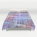 duvet covers Mosaic pattern blue and red by Christine Baessler