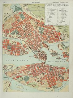 City Map of Stockholm, 1900