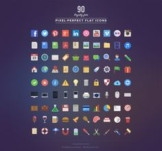 90 Royalty free Flat Icons