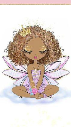 Kitten's World Black Girl Art, Art Girl, Cute Images, Cute Illustration, Naive, Cute Drawings, Cute Wallpapers, Painted Rocks, Illustrations