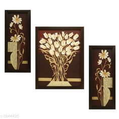 Paintings & Posters  Personal Home Paintings  Material: Synthetic Size : Frame 1 (L x W) -5.2 X 12.5 in         Frame 2 (L x W) - 9.5 X 12.5 in          Frame 3 (L x W) - 5.2 X 12.5 in Description: It Has 3 Pieces Of Frames With Painting (Glass Is Not Included) Work: Printed Country of Origin: India Sizes Available: Free Size   Catalog Rating: ★4 (272)  Catalog Name: Trendy Personal Home Paintings Vol 13 CatalogID_447472 C127-SC1611 Code: 513-3244425-756