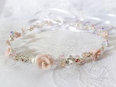 Hey, I found this really awesome Etsy listing at https://www.etsy.com/listing/155532358/pinksilver-bridal-headband-swarovski