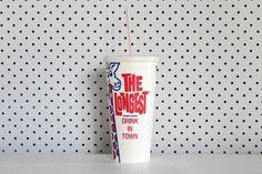 The Longest Drink In Town' Paper Milkshake Cups - Pop Roc Parties