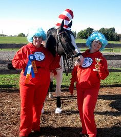 Cat in the Hat with Thing 1 and Thing 2 Horse Costume