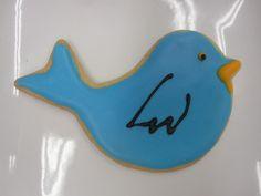 Blue bird cookie by Flour & Sun #cookie #bluebird