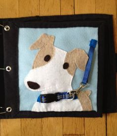 The Quiet Book Blog: Katie's Quiet Book - Latch the dog collar and leash