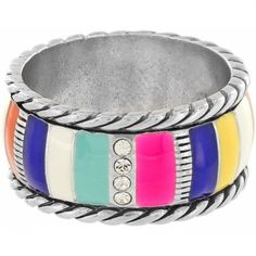 Cabana Striped Ring available at #BrightonCollectibles - Nick get me this for Christmas 2014 :)