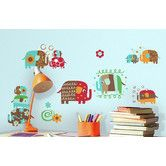 Found it at Wayfair - Zutano Elephant Parade Peel and Stick Wall Decal