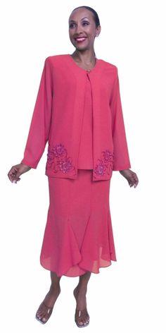 Mother of Bride Hot Pink Plus Size Dress 3 Piece Tea Length Jacket Green Plus Size Dresses, Hot Pink Dresses, Plus Dresses, Plus Size Looks, Semi Formal Dresses, Fashion To Figure, Tea Length Dresses, Fashion 2017, Mother Of The Bride
