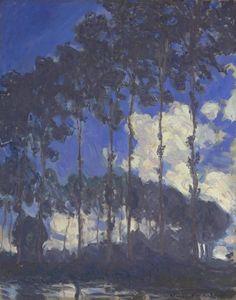Claude Monet 'Poplars on the Epte', 1891 Claude Monet, Post Impressionism, Impressionist, Art Fund, First Art, Water Lilies, Vincent Van Gogh, Online Art Gallery, New Art