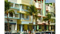 South Beach is the place to be seen in Miami. It's also filled with beautiful pastel-colored buildings. Art Deco Buildings, Colourful Buildings, Beautiful Buildings, Beautiful Places, Amazing Places, South Beach Miami, Visit Florida, Florida Beaches, Florida Vacation