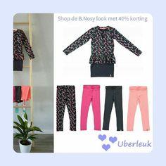 B.nosy in de sale. Deze leuke jurk combineer je steeds net even anders met een andere kleur legging.  #bnosy #peplum #legging #sale #uitverkoop