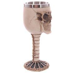 Medieval Renaissance  3D Skeletal Skull Wine Goblet Bones Skull Armor Cup - drinking goblet Wine Chalice Resin