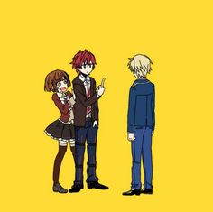 Dance with Devils- Lindo, Rem, and Ritsuka anime funny