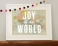 ": repeat the sounding joy. ""Joy to the World"" & ""Peace on Earth"" map printables--FREE! Merry Little Christmas, Christmas Love, Winter Christmas, All Things Christmas, Christmas Crafts, Christmas Decorations, Christmas Ideas, Modern Christmas, Christmas Wishes"