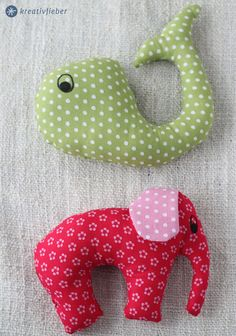 diy tutorial: baby rattles / toy animals / stofftiere selbernähen