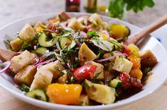 This would be perfect for gluten free bread - Panzanella by Ree Drummond / The Pioneer Woman, via Flickr