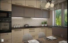 Mieszkanie Bacieczki - Średnia otwarta kuchnia w kształcie litery l, styl nowoczesny - zdjęcie od Anna Wrona