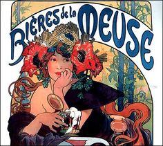 vintage posters, alphons mucha, famous artists, art posters, poppi, belle epoque, art nouveau, alphonse mucha, actresses