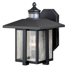 * Engle Outdoor Wall Lantern with Motion Sensor