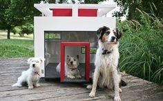 Custando por volta de R$ 5 mil, essa casinha de cachorro feita na Alemanha lembra os traços do arquiteto brasileiro Oscar Niemeyer